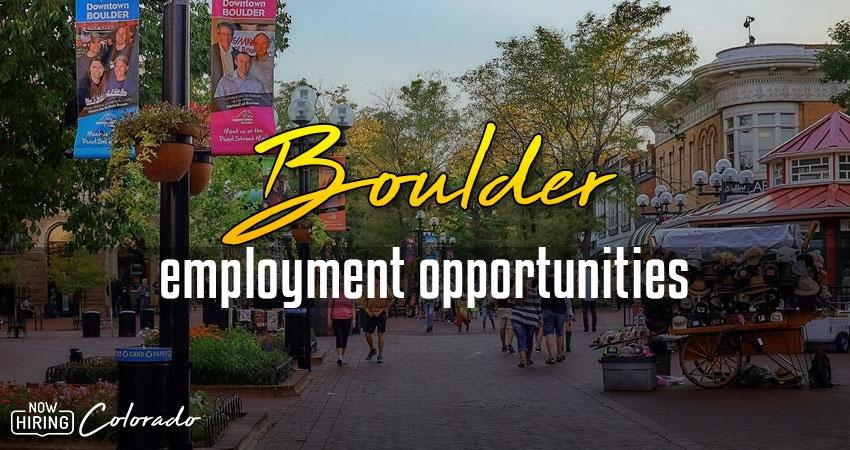 Jobs in Boulder, Colorado